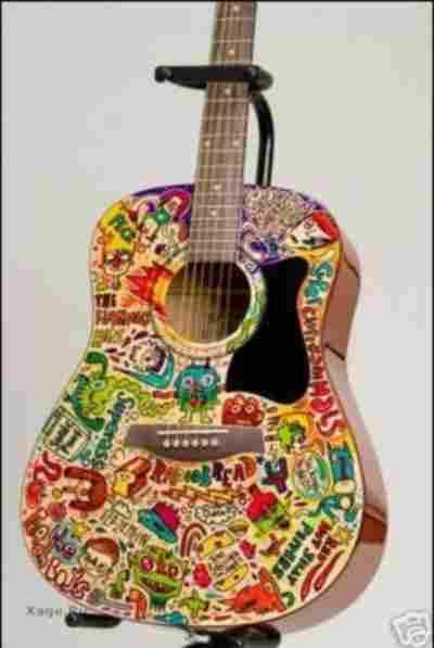 Пазл с рисунком гитары